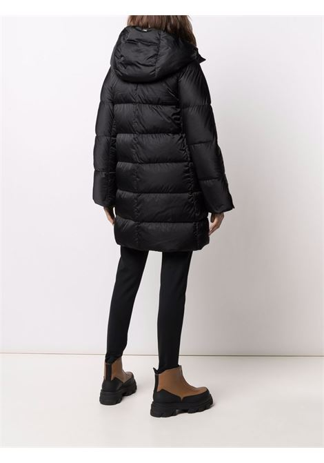 Black hooded padded coat featuring down-feather filling HERNO |  | PI1304D-121709300