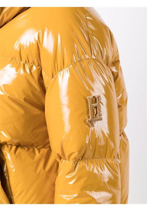 Piumino corto in piuma d'oca gialla con logo Herno HERNO | Piumini | PI1374D-122203950