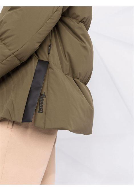 Piumino in piuma verde con cappuccio classico HERNO | Piumini | PI155DL-111067740