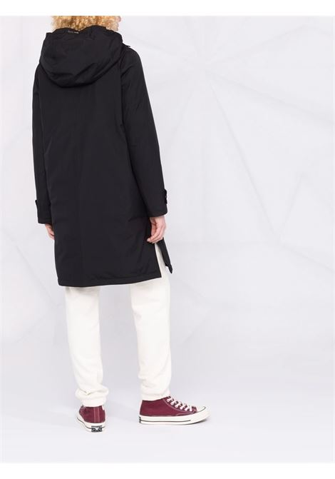 Black goose down hooded zipped coat  HERNO |  | PI168DL-111219300
