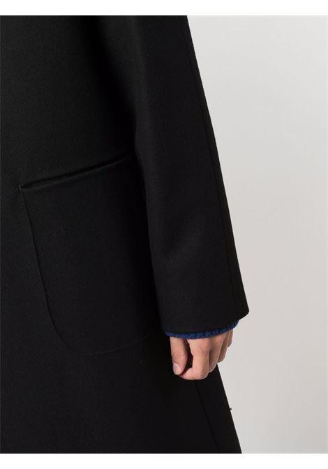 Cappotto monopetto in lana nera con chiusura frontale con bottoni HEVO' | Cappotti | CONVERSANO-130A725-2517