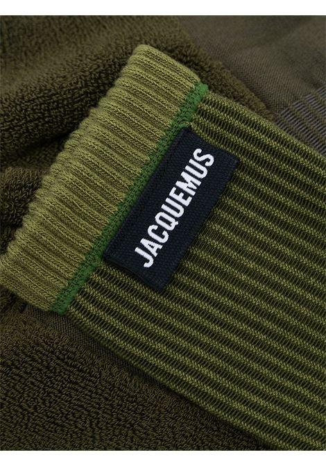 Calzini in cotone verde militare con cuciture a vista JACQUEMUS | Calze | 213AC04-500550550