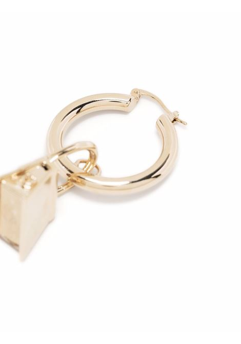 Les Cretoles Chiquito gold enamel dangle earrings with  logo JACQUEMUS |  | 213JW01-580200270