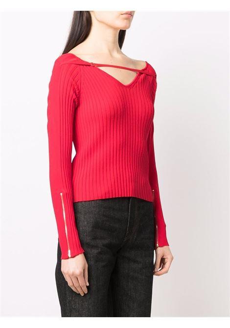 maglia rossa in maglia a coste JACQUEMUS | Maglieria | 213KN17-219450470