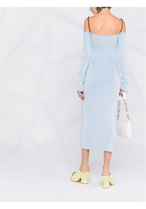 Blue and brown Sierra off-shoulder midi dress  JACQUEMUS      213KN30-218321320