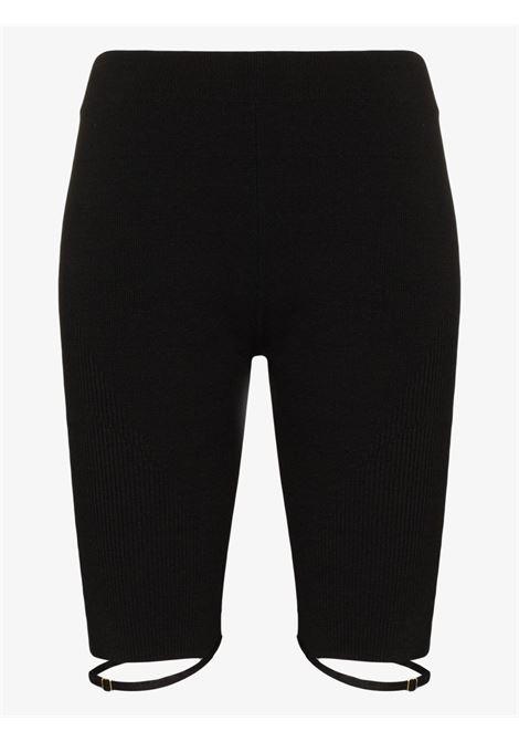 Black linen Sierra strap cycling shorts   JACQUEMUS      213KN34-233990990