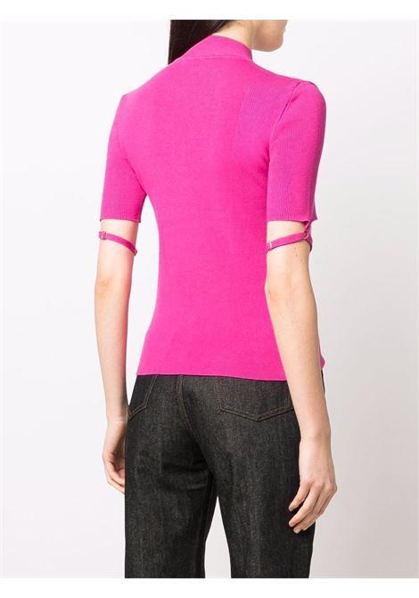 top rosa shocking con dettaglio cinturino Torre JACQUEMUS | Maglieria | 213KN57-201450430