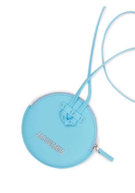 Aqua-blue leather Le Pitchou neck-strap wallet  JACQUEMUS |  | 213SL01-307330340
