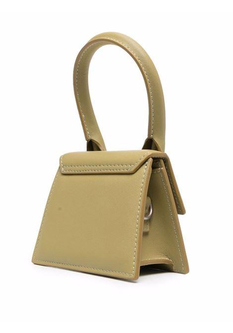 Khaki-green leather Le Chiquito Homme shoulder bag  JACQUEMUS |  | 216BA01-307540530