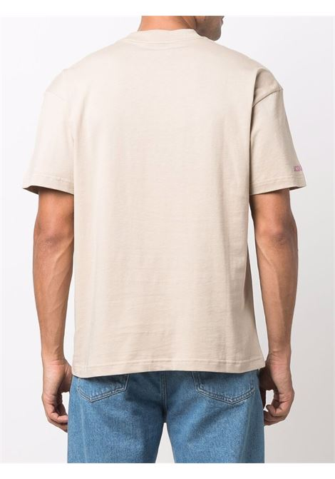 Beige cotton Treck print short-sleeve T-shirt  JACQUEMUS |  | 216JS13-23102A1AI
