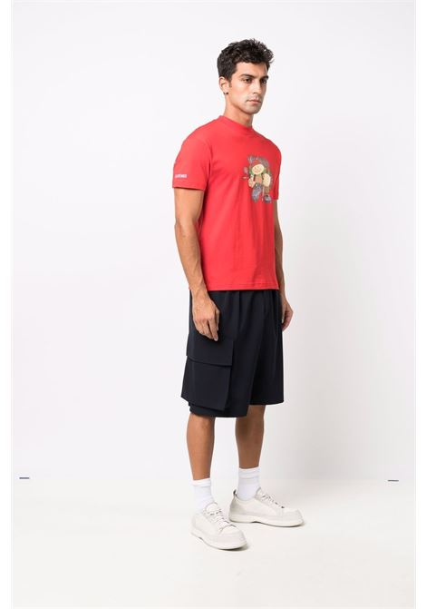 T-shirt Le Trekk in cotone rosso a maniche corte JACQUEMUS | T-shirt | 216JS13-23104A4AB