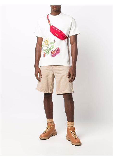 t-shirt in cotone bianco Le t-shirt Randonnée con stampa floreale JACQUEMUS | T-shirt | 216JS16-22801D1AH