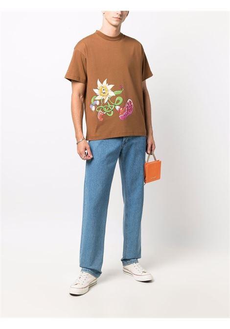 t-shirt in cotone marrone Le t-shirt Randonnée JACQUEMUS | T-shirt | 216JS16-22808D8AG