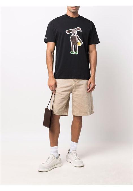 T-shirt in cotone nero con stampa Toutou JACQUEMUS | T-shirt | 216JS19-23109G9AD
