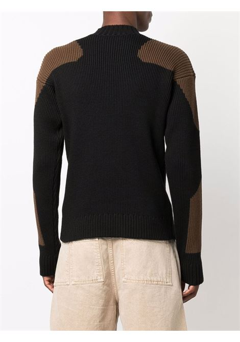Black and brown virgin wool La maille Girò two-tone jumper  JACQUEMUS      216KN12-215993990
