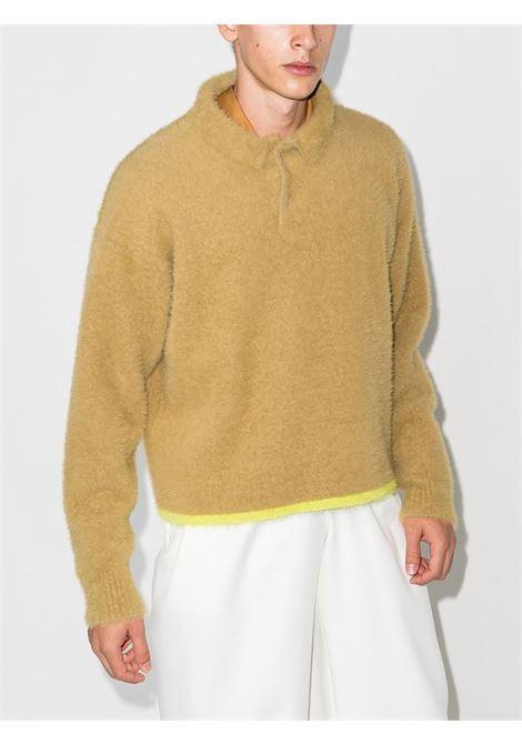 polo a maniche lunghe Le Polo Neve in lana sherpa beige JACQUEMUS | Polo | 216KN61-239123150