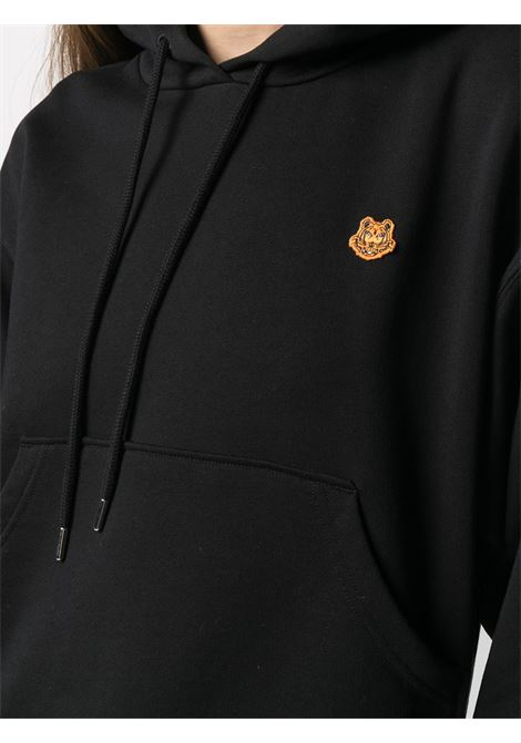 Black cotton hoodie featuring signature Tiger patch KENZO |  | FB5-2SW777-4ML99