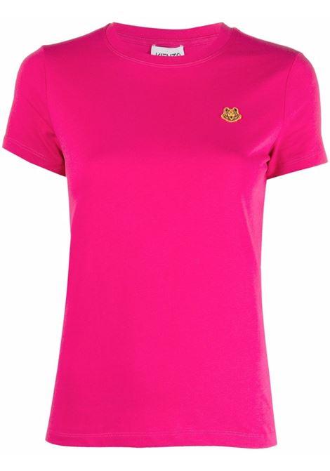 fuxia cotton Tiger patch T-shirt  KENZO |  | FB5-2TS843-4SA26