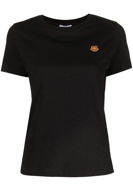 t-shirt cotone girocollo m/m stemma tigre petto KENZO | T-shirt | FB5-2TS843-4SA99