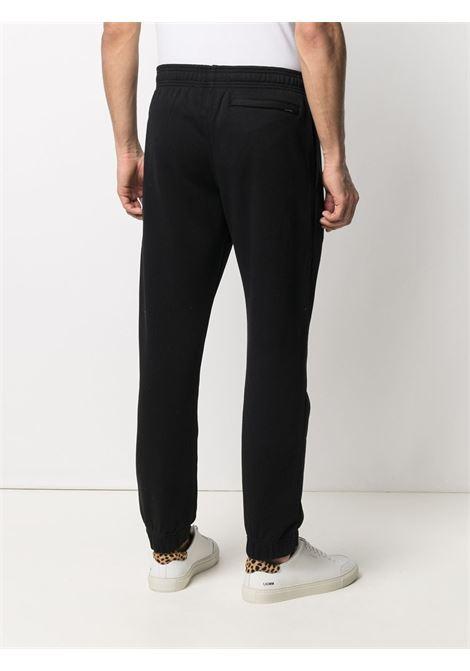 Pantaloni sportivi neri in cotone con vita elasticizzata KENZO | Pantaloni | FB5-5PA711-4ML99