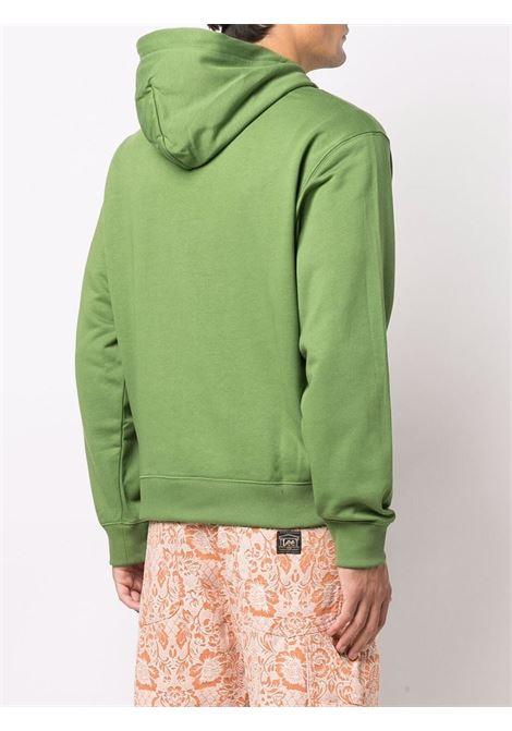 Felpa verde in cotone elasticizzato con logo Tiger arancione KENZO | Felpe | FB5-5SW365-4ML56
