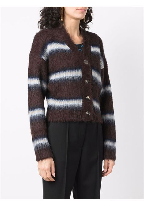 Brown and blue striped knit cardigan KENZO |  | FB6-2CA615-3CH90A