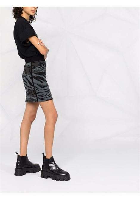 Black and charcoal-grey wool animal print knitted skirt  KENZO |  | FB6-2JU627-3CF96