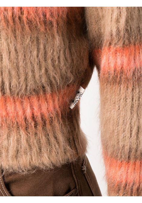 Brown and orange brushed stiped wool jumper  KENZO |  | FB6-2PU615-3CH13A