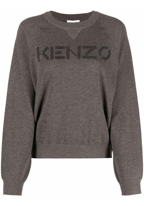 Dark brown wool Kenzo logo-print knitted jumper  KENZO |  | FB6-2PU633-3LB92