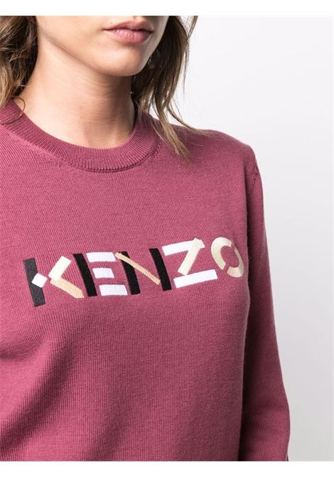 bordeaux wool jumper featuring embroidered Kenzo logo at the chest KENZO |  | FB6-2PU639-3LA85