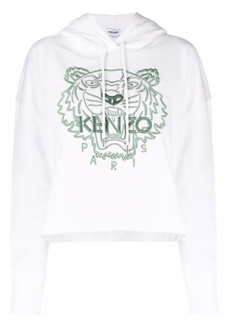White cotton Tiger embroidered cotton hoodie KENZO |  | FB6-2SW660-4XF01B