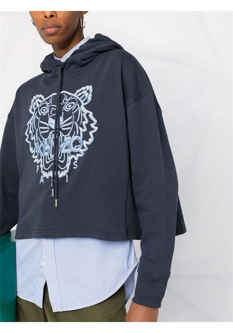 black cotton Tiger embroidered cotton hoodie KENZO |  | FB6-2SW660-4XF79