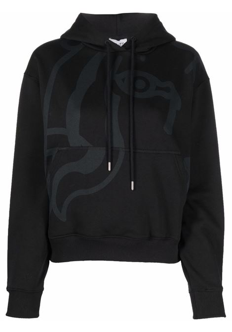 Black cotton hoodie featuring graphic print at the chest KENZO |  | FB6-2SW662-4MO99