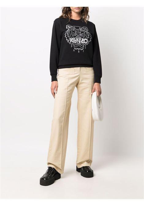 Black cotton Tiger embroidered crewneck sweatshirt KENZO |  | FB6-2SW820-4XH99