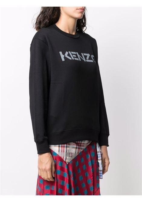 Black cotton sweatshirt with Kenzo logo KENZO |  | FB6-2SW821-4ML99