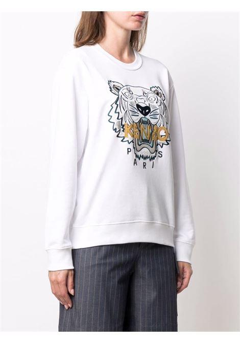White cotton Tiger embroidered-logo sweatshirt  KENZO |  | FB6-2SW824-4XA01B