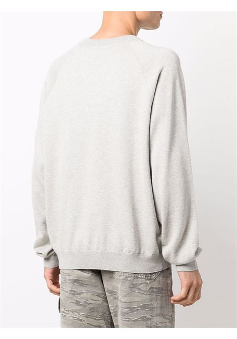 Maglione girocollo grigio in cotone e lana con logo Kenzo KENZO | Maglieria | FB6-5PU633-3LB93