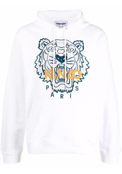 Felpa con cappuccio Tiger in cotone bianco KENZO | Felpe | FB6-5SW333-4XA01B