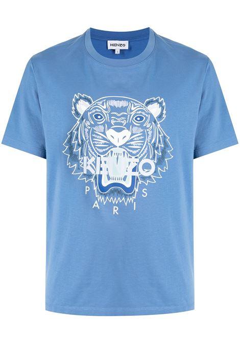 T-shirt Tiger in cotone azzurro KENZO   T-shirt   FB6-5TS020-4YA72