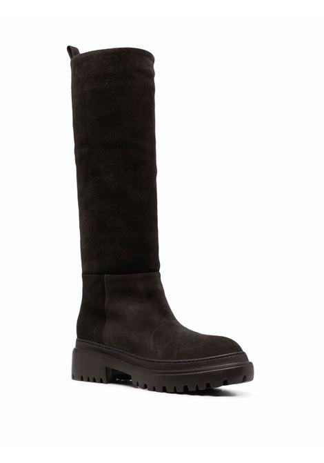 Stivali al ginocchio in pelle scamosciata marrone scuro L'AUTRE CHOSE | Stivali | LDO013.45GG-04482062