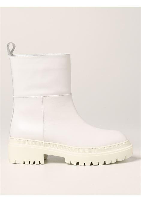 Stivaletti con suola carrarmato in pelle di vitello bianca L'AUTRE CHOSE | Stivali | LDO014.45GG-30773036