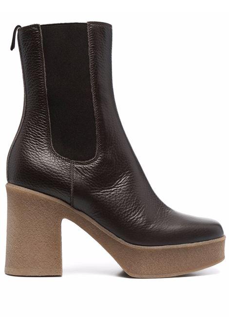 Stivaletti a punta quadrata in pelle di vitello marrone L'AUTRE CHOSE | Stivali | LDO031.95GG-14472062