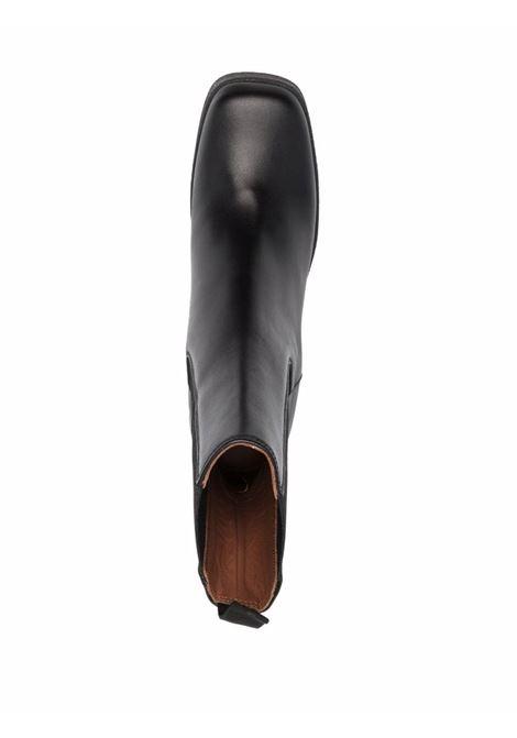 Stivaletti chelsea in pelle nera con linguetta sul tallone L'AUTRE CHOSE | Stivali | LDO031.95GG-30771001