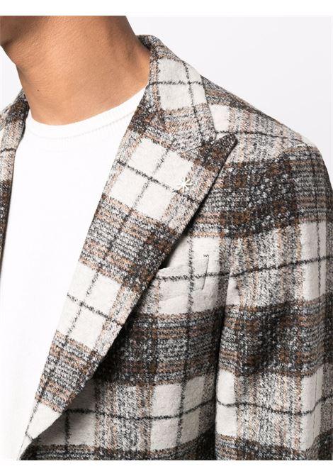 grey plaid check single-breasted blazer  MANUEL RITZ |  | 3132G2748M-21369327