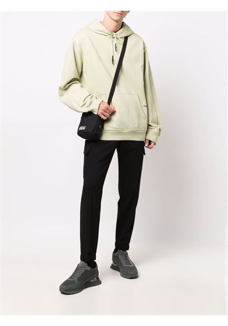 Pantaloni skinny neri a vita media con pieghe a cannoncino MANUEL RITZ | Pantaloni | 3132P5006-21368499