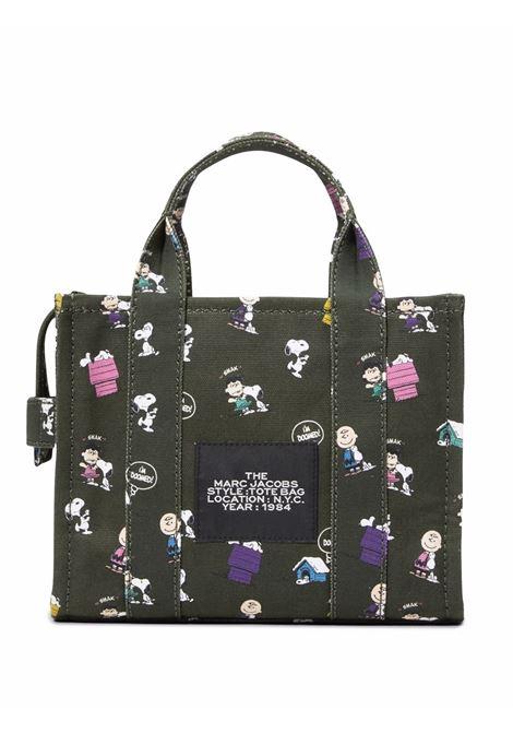 Khaki green cotton The Mini Tote bag featuring Peanuts cartoon print MARC JACOBS |  | H030M06FA21316