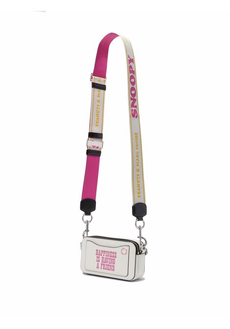 White and pink cow leather The Peanuts Snapshot camera bag MARC JACOBS |  | H119L01FA21177