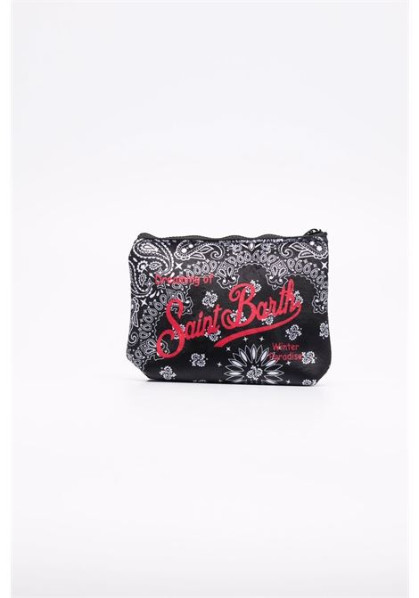 black bandana print neoprene pouch featuring red Mc2 logo print  MC2 |  | ALINE W-BANDANA ROUND00