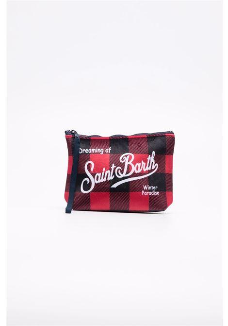 red and black check print wash bag featuring MC2 logo print  MC2 |  | ALINE W-BIG VICHY4100