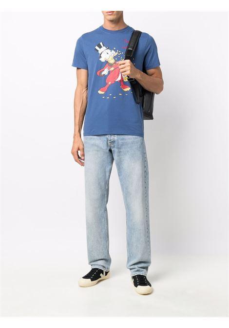 Blue cotton Paperon de Paperoni cartoon print T-shirt MC2 |  | ARNOTT-EMB RICH61